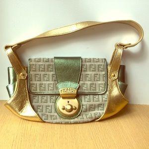 Fendi Gold & Green Zucchino Compilation Bag